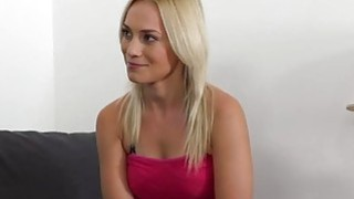 Blonde fucked doggy style in casting porn image