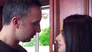 Hot Lana Rhodes deep throat blowjob Keiran Lees pecker porn image