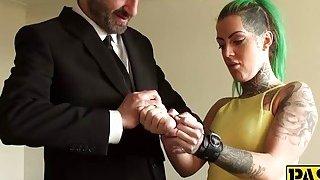 Tattooed hottie Phoenix having rough_and wild sex action porn image