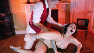 Busty Ivy Lebelle gets pussy plowed by Danny_D porn image