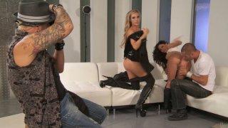 Horny busty girlies Samantha Saint & Aleksa Nicole get pussies licked porn image