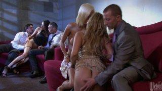 Party sluts Shyla_Stylez, Jenny Hendrix and_Kortney Kane blowjob orgy porn image