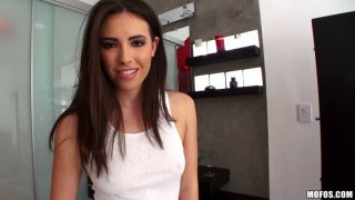 Cute_and_sexy_brunette_Casey_Calvert_gives_a_blowjob_in_the_bathroom porn image