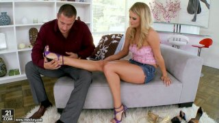 Heather Starlet is a real treasure for foot fetishists porn image