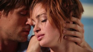 Short haired red head Jodi Taylor gonna suck a cock for tasty sperm porn image