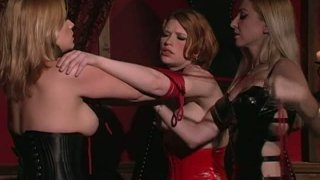 Rapacious chick Madison Young gonna have a weird lesbo party porn image