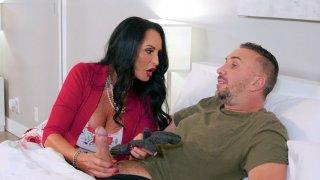 Rita Daniels gives masterful blowjob to Keiran Lee porn image