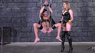Brutal pegging from a chick porn image