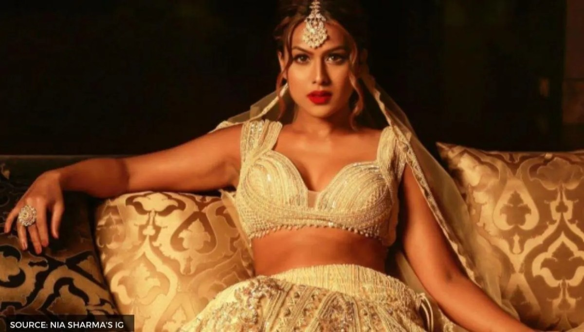 """Nia Sharma stuns in ivory lehenga, but claims this """"image"""" of her's is now  """"unavailable"""""""
