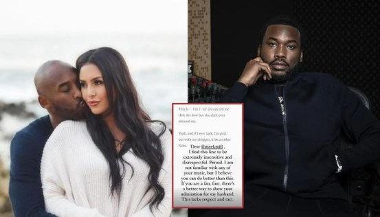 Vanessa Bryant calls Meek Mill's 'Insensitive' lyrics to Kobe Bryant, fans explode