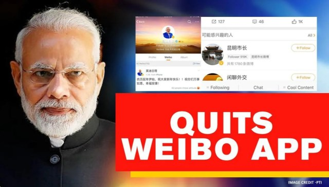 PM Modi quits Chinese app Weibo, all posts deleted after India ...