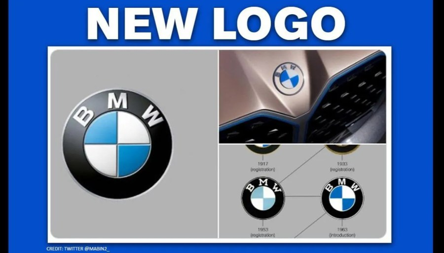 BMW unveils its brand new logo with white and transparent ...