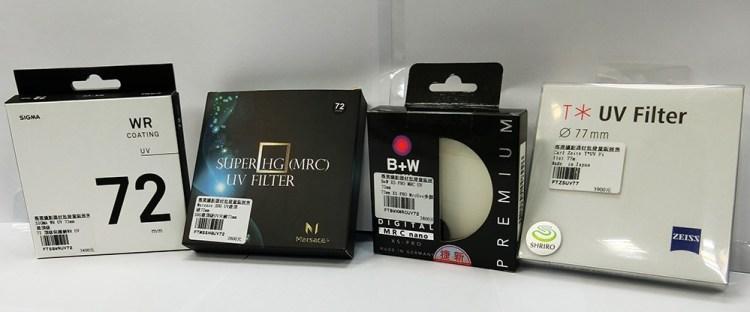評測》高精度濾鏡 SIGMA、Marsace 瑪瑟士 UV濾鏡與知名頂級濾鏡