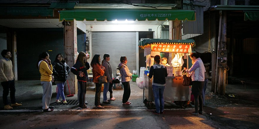 南投》令人懷念 「珍珠奶茶」 南投夜市 小攤販 黑輪