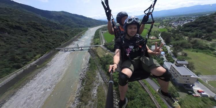 花蓮》花蓮飛行傘 高空全景360度俯瞰壯麗的花東縱谷 -明利WUMA飛行傘