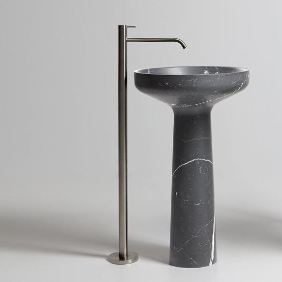 antoniolupi ayati freestanding single handle basin mixer satin stainless steel
