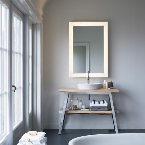 duravit cape cod mirror with led lighting without mirror heating