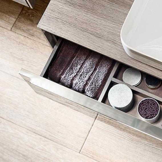 roca inspira lavabo avec meuble sous lavabo 2 tiroirs facade blanc brillant corps du meuble blanc brillant