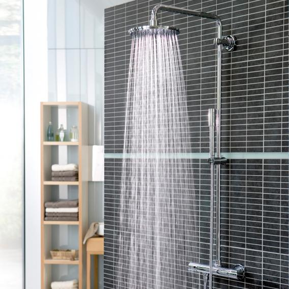 grohe rainshower system 210 duschsystem mit thermostatbatterie fur die wandmontage