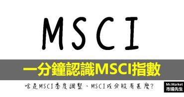 認識MSCI指數,一分鐘看懂MSCI季度調整