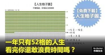 【免費下載】人生格子圖 - 一年只有52格的人生,看完你還敢浪費時間嗎?