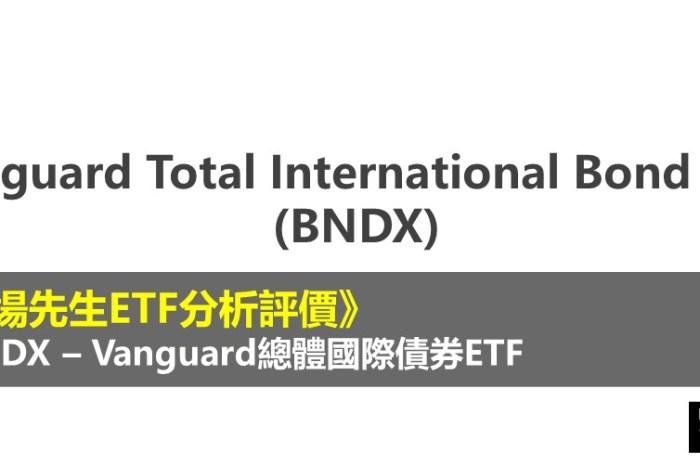BNDX ETF分析評價》Vanguard Total International Bond ETF (Vanguard總體國際債券ETF)