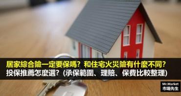 居家綜合險一定要保嗎?和住宅火災險有什麼不同?投保推薦怎麼選?