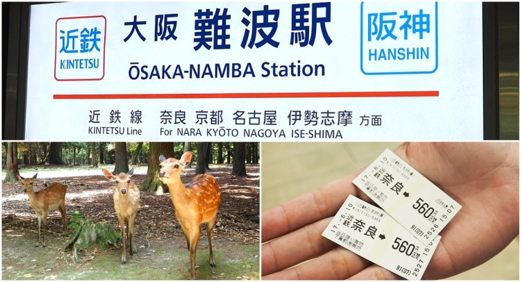 大阪。交通 | 帶你從難波搭近鐵電車到奈良看小鹿~♥購票教學、時刻表