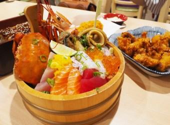 無敵生魚片丼 料要滿到翻出來了 多摩食堂日式料理 天母美食祭