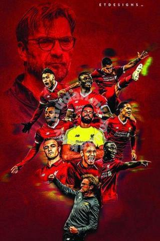 poster liverpool fc team 2020