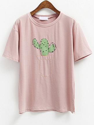 Cactus Print Short Sleeve T-shirt