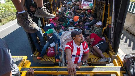 Migrantes centroamericanos en la ciudad de Córdoba, Veracruz, México, el 5 de noviembre de 2018.