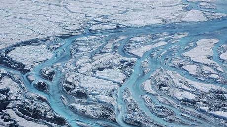 Derretimiento del hielo de Groenlandia.