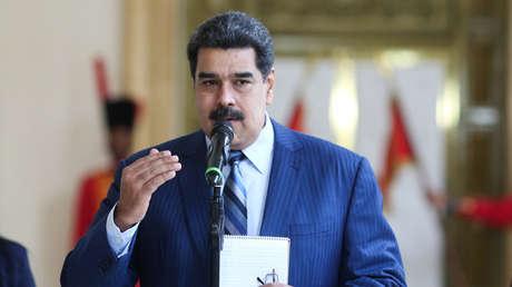 El presidente venezolano Nicolás Maduro, en el Palacio de Miraflores. 7 de enero de 2019.