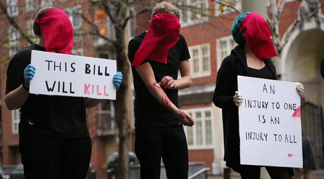 LGBT activists self-harm, create 'rivers of blood' to protest Immigration Bill