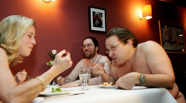 "Image result for Paris Opens It's First Ever ""Naked Restaurant"""