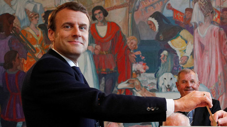 French presidential election candidate Emmanuel Macron © Christophe Ena
