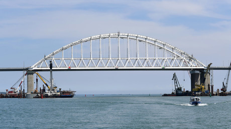 The Crimean Bridge across the Kerch Strait © Sputnik / Aleksandr Polegenko
