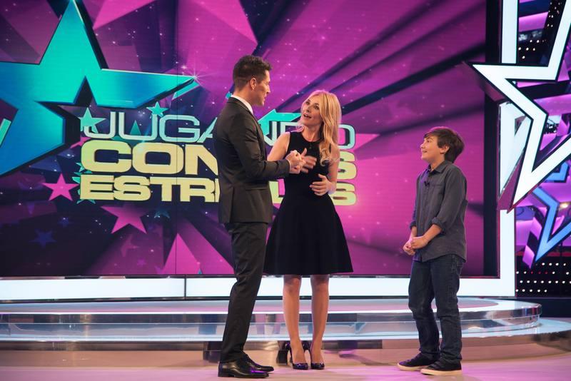 Cayetana y su hijo Leo, concursantes en el primer programa