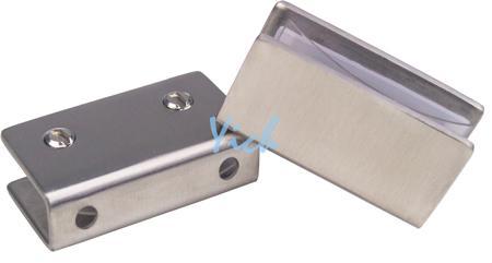 『宜居衛浴』 304不銹鋼 方形 拉絲霧面 平臺夾 玻璃夾 層板夾 - 露天拍賣