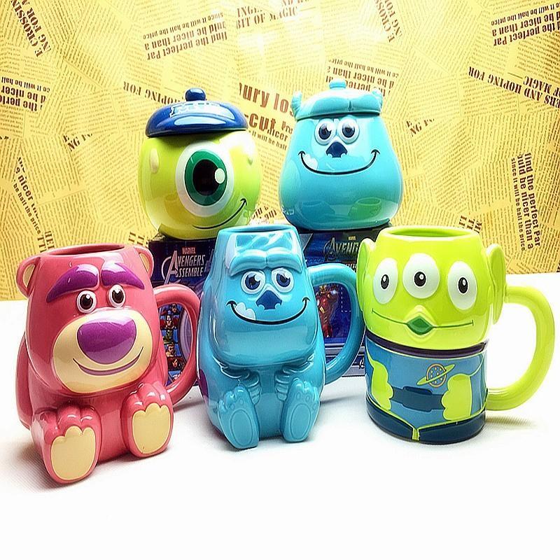 [現貨]迪士尼馬克杯 怪獸大學 毛怪 大眼怪 電力公司 玩具動總員 三眼怪 熊抱哥 卡通咖啡杯水杯趣味創意交換 ...