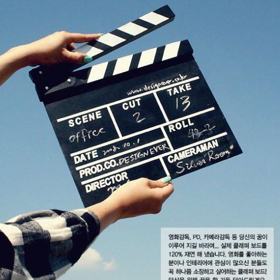 時尚木質中英文電影場記板 電影打板 導演板 (大號款) - 露天拍賣
