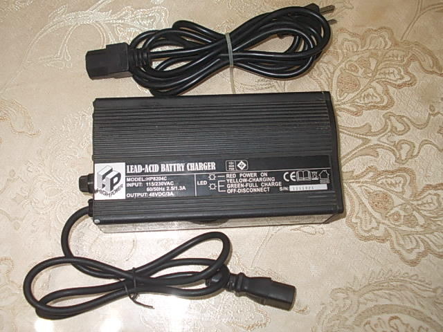 HP ~電動機車~專用充電器~DC48V/3A~型號HP8204C~使用電壓AC115V~230V - 露天拍賣