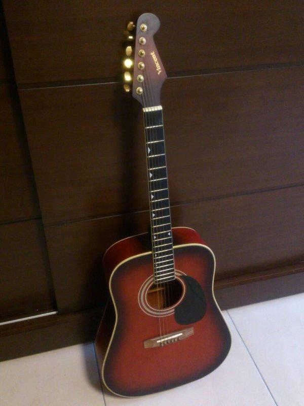 二手 吉他 黑紅色 面交 1200 - 露天拍賣