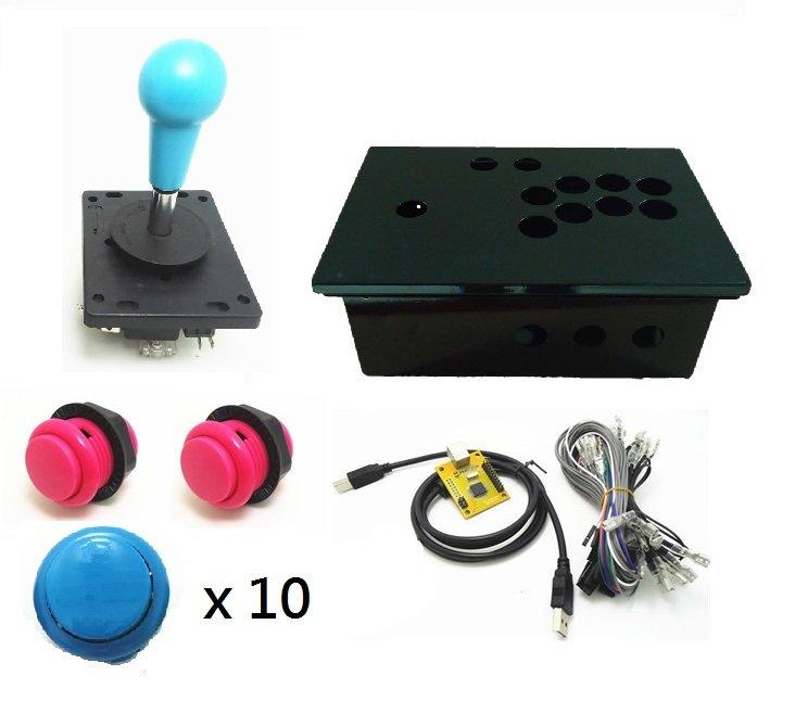 DIY單人電腦/PS3搖桿控制盒 控臺 街機遊戲控制模擬器 USB搖桿套件 - 露天拍賣