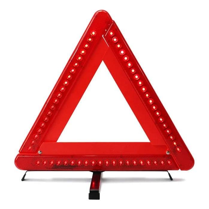 【L116 LED警示牌】LED款 三角反光警示牌 警示架 停車反光警示標誌LED 三角架 LED燈三角警示牌 艾比讚 - 露天拍賣