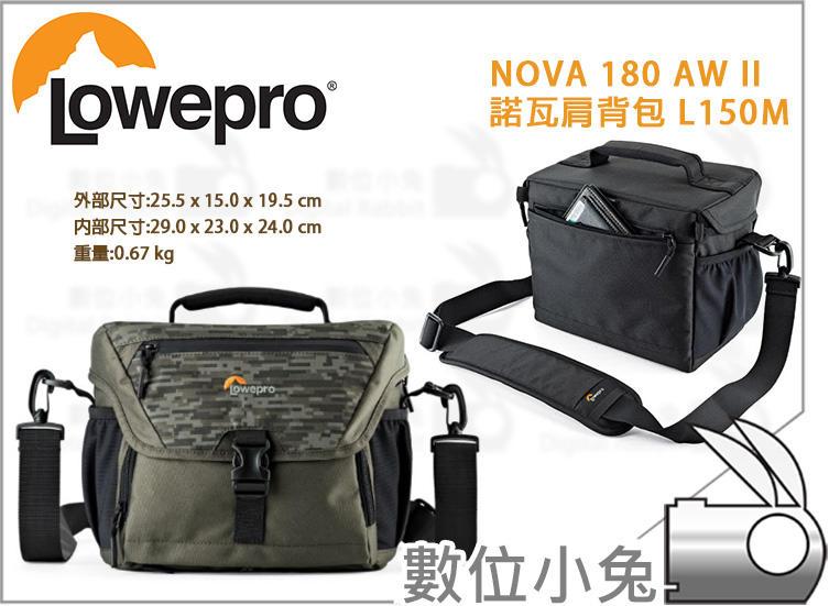 數位小兔【Lowepro NOVA 180 AW II 諾瓦肩背包 L150M】斜肩包 相機包 側背包 - 露天拍賣