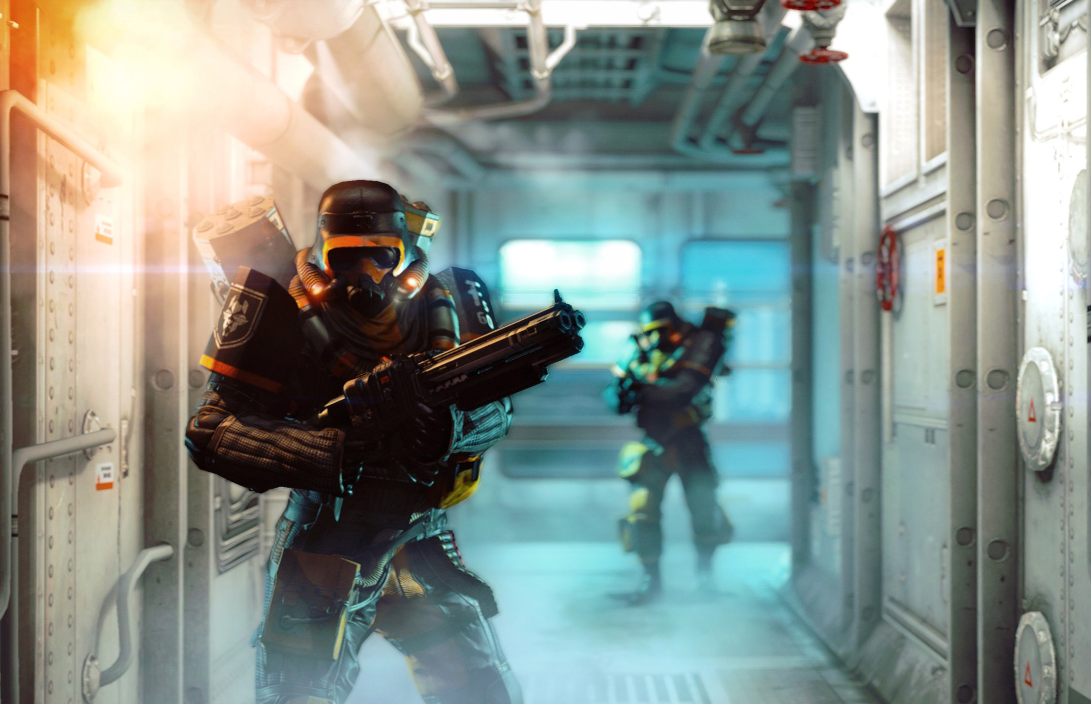 A scene from the video game, 'Wolfenstein: The New Order' by Bethesda Softworks.