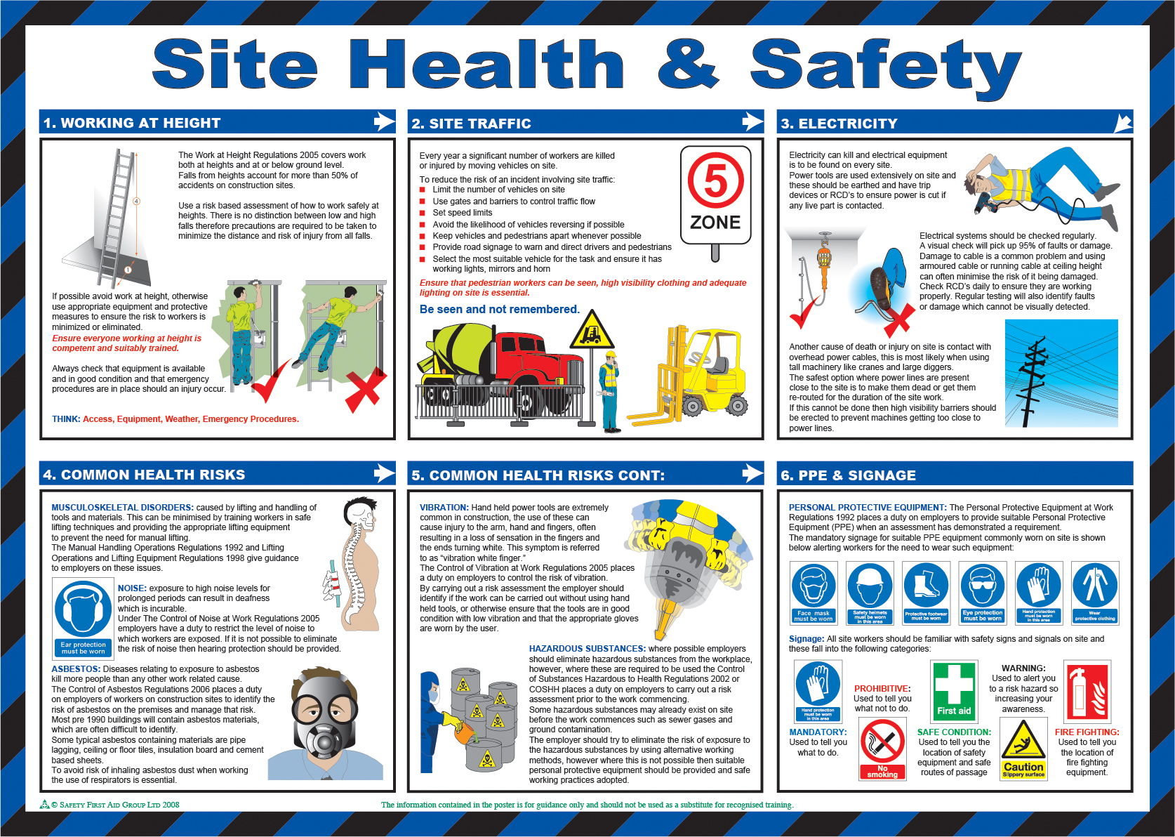 Site Health Amp Safety Poster From Safety Sign Supplies