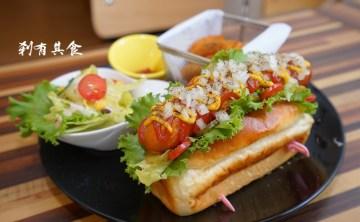 [台中北平路美食] 胖子廚房美式餐廳 手作早午餐 老闆是Vespa控 @食材新鮮 麵包好吃 推漢堡/大亨堡(更名為 瘦子漢堡)